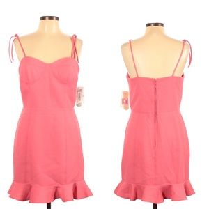 Gianni Bini pink ruffle tie strap summer dress
